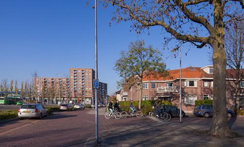 Appartementen; winkels; parkeergarage